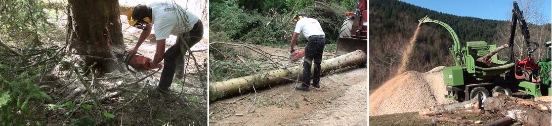 Production de plaquettes forestières pour le chauffage